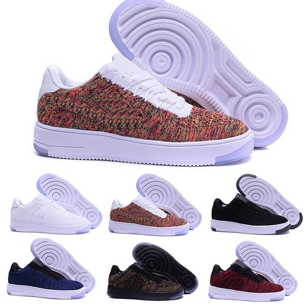 Acquista Nike Air Force 1 One Flyknit Moda Uomo Scarpe Low One 1 Uomo Donna Cina Casual Scarpe Fly Designer Royaums Tipo Breathe Skate Knit Femme