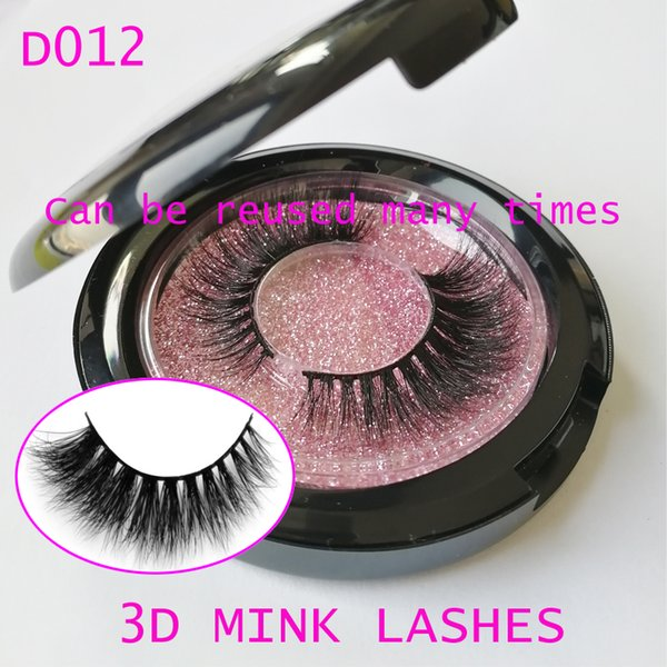 3D Mink Lashes 100% Real Siberian 3D Mink Full Strip False Eyelash Long Individual Eyelashes Mink Lashes private logo GR53
