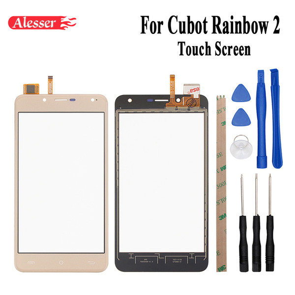 Alesser 5inch For Cubot Rainbow 2 Touch Screen Sensor Touch Panel Perfect Repair Parts+Tools+Adhesive For Cubot Rainbow 2