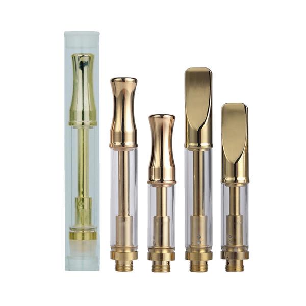 Custom logo for Gold color Pyrex cartridge 92A3 disposable vape pen cartridges 510 atomizer fit O pen Evod ecig battery VV box Mod