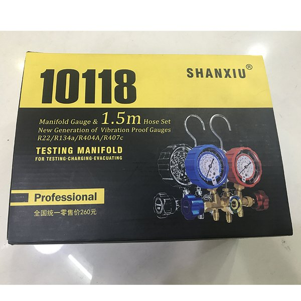 2019 Manifold Gauge With 1 5m Hose R22 R134A R404A R407C Testing Manifold  Car Repair Tool Auto AC Parts Auto Parts From Ruchu, $55 88 | DHgate Com