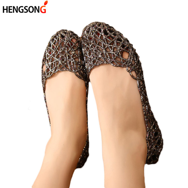 4049c40eb3da HENGSONG Women s Sandals 2018 Fashion Lady Girl Sandals Summer Women Casual Jelly  Shoes Hollow Out Mesh Flats 23-25cm