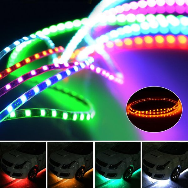 Waterproof Car Auto Decorative Flexible LED Strip Light 12V 45cm/90cm Car LED Daytime Running Light Strip DRL