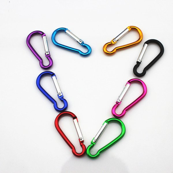Key Chain Carabiner Travel Keyrings Outdoor Sports Camp Snap Clip Hook Keychains Hiking Aluminum Metal Stainless Steel Hiking Camping DS0181