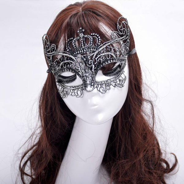 Sexy Eye Mask Masquerade Ball Carnival Fancy Party Crown Half-face Cover Lace Masks for Halloween/Christmas Party dress up