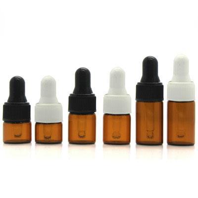 1ml 2ml 3ml 5ml Portable Amber Clear Aromatherapy Esstenial Oil Bottle with Glass Eye Dropper Mini Empty Dropper Bottle