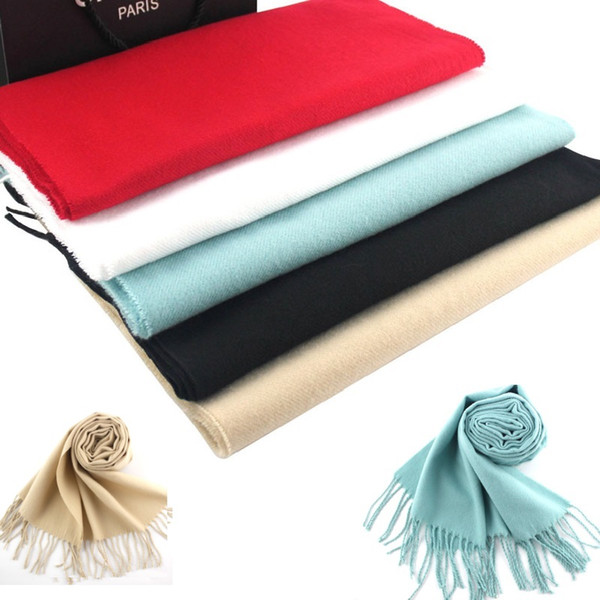 DHL free shipping wholesale 50pcs Pashmina Cashmere Like Solid Shawl Wrap Unisex Scarf Women's Scarf Pure 190*31cm