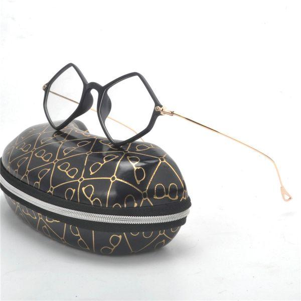 I più recenti Occhiali da vista Occhiali da vista Donna Designer di marca Poligono Occhiali da vista Occhiali da vista in metallo TR90 Montature miopia FML
