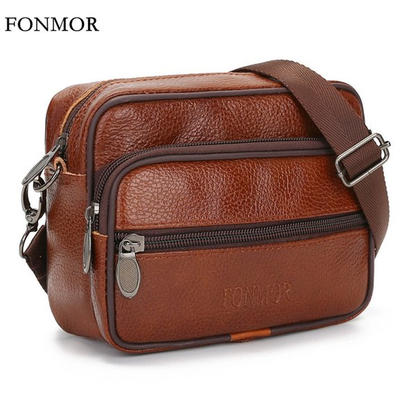 Brand Genuine Leather Men Shoulder Bags Small Male Crossbody Bags Travel Cowhide Handbag Bolsos Mujer Men Messenger CJ343