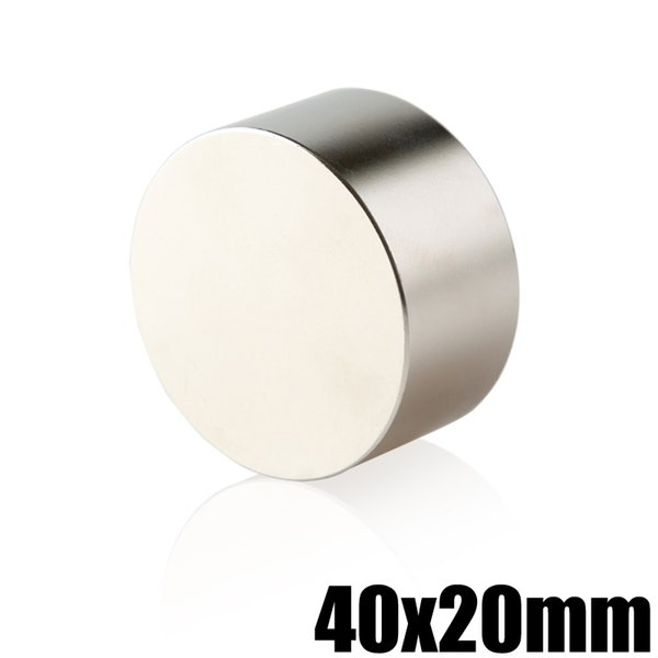 Neodymium Magnet 40x20 Permanent NdFeB Super Strong Powerful Round Magnetic Magnets Disc 1 Piece N35