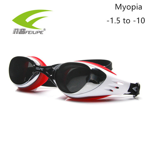2b90db21f3a6 Feiupe Myopia Swim Goggles Swimming Glasses Anti Fog Uv Protection Optical Waterproof  Eyewear For Men Women Adults Sport