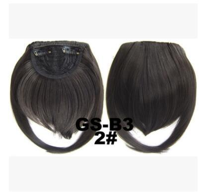top popular Europe and the United States new high temperature filament chemical fiber high temperature silk temples lengthened bangs 2# deep brown 30 gr 2019