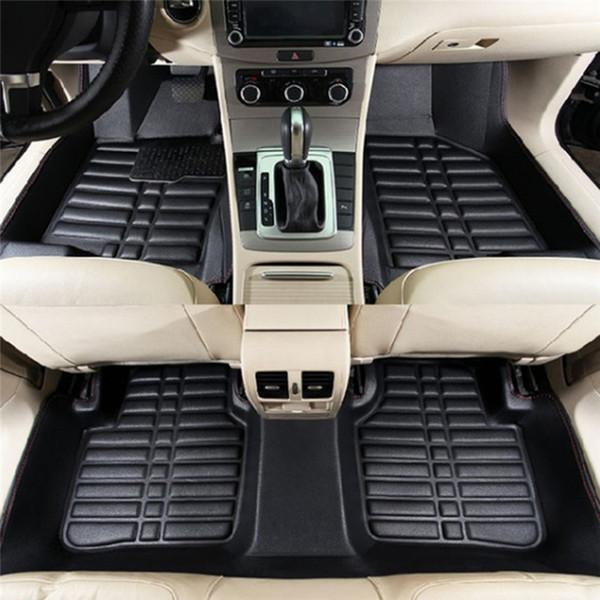 Universais 5Pcs Carro Tapetes Para Auto Anti-Slip Mat Red Preto Car Styling Interior Auto assoalho do carro mat pé apto para Honda toyota bmw