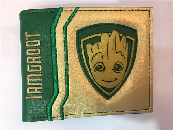 Movie Guardians of the Galaxy Groot Wallet Tree Man Baby PU Short Wallets Credit Card Case Holder Bifold Purse Cosplay Gift