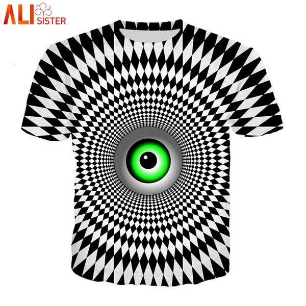 Alisister Vertigo Hypnotic T Shirt Men Women 3d Funny Print O Neck Summer Tshirts Unisxe Hip Hop Tees Tops Camisa Masculina