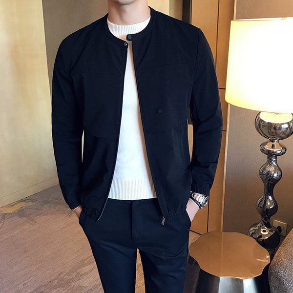 Großhandel Men's Jacke 2018 Neue Koreanische Version Des Trends Der Schlanken Gut Aussehenden Herren Dünnen Herbst Lässig Jacke Von Chenhanyang,