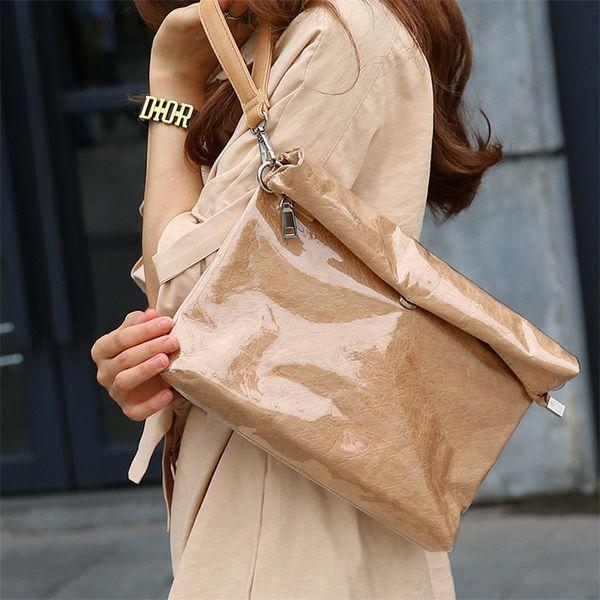 New Transparent PVC Plastic Jelly Bag For Women Clutch Bags Waterproof Kraft Paper Ladies Handbag Daily Clutches Fashion Design