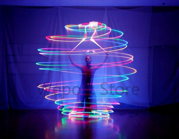 1 pcs LED POI Thrown Balls for Professional Belly Dance Level Hand women leg Belly Dancer Props with 7 Color 9 Function LED