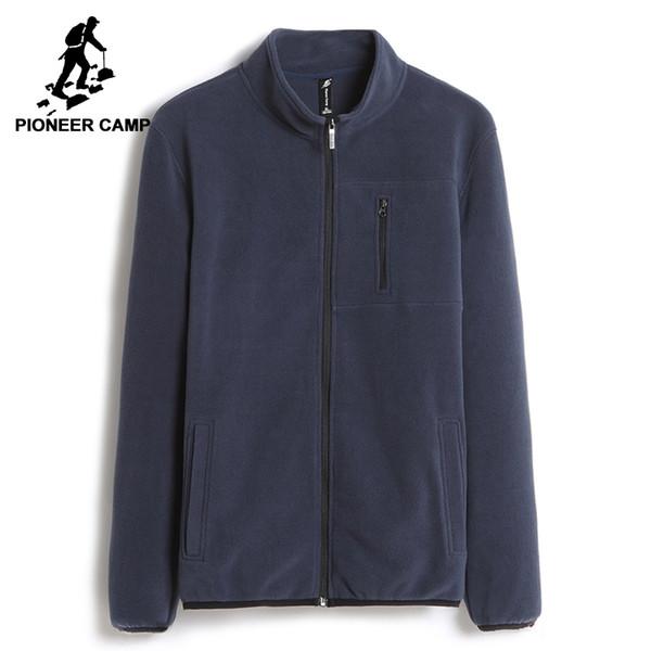 Pioneer Camp warme sweatshirts männer markenkleidung solide fleece zipper hoodies männlich top qualität dunkelblau AJK702388Y1882203