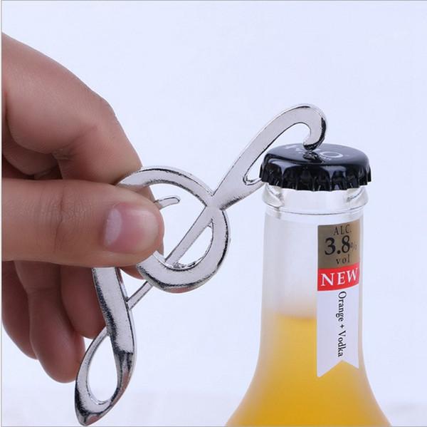 Music Note Bottle Opener Symphony Chrome Beer Opener Wedding Shower Favors Bottle Opener Party Christmas Gift
