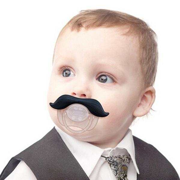 Black Mustache Shape Silicone Baby Pacifier Funny Dummy Baby Soother Nipple