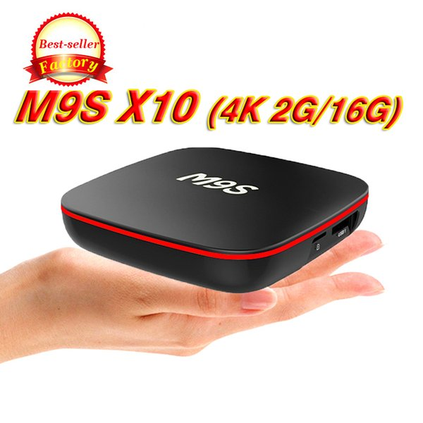 Factory M9S X10 TV BOX Android 7.1 Quad Core Rockchip RK3229 Internet 4K 1GB 8GB WiFi 4K 3D Google Media Player 2GB 16GB Bluetooth