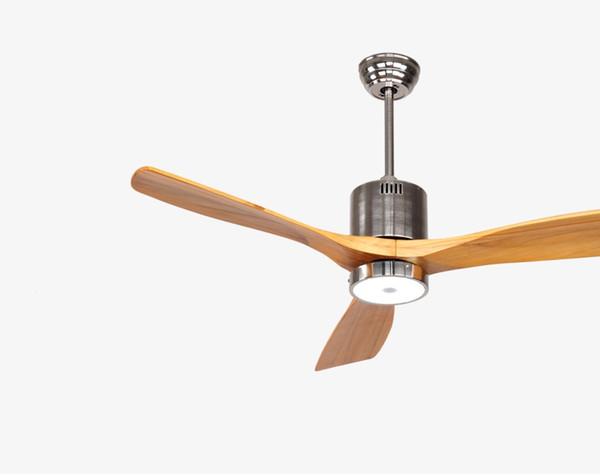Continental antico ventilatore a soffitto luce plafoniera minimalismo moderno ventilatore a soffitto con telecomando porta lampada a LED in legno massello