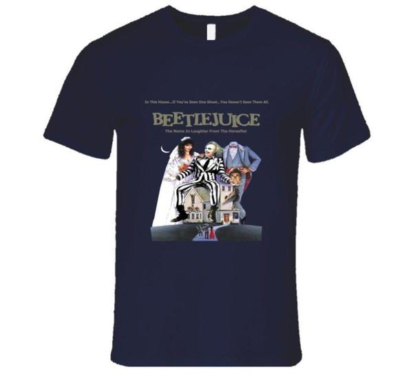 Beetlejuice плакат, фильм Тим Бертон создание призрак футболка