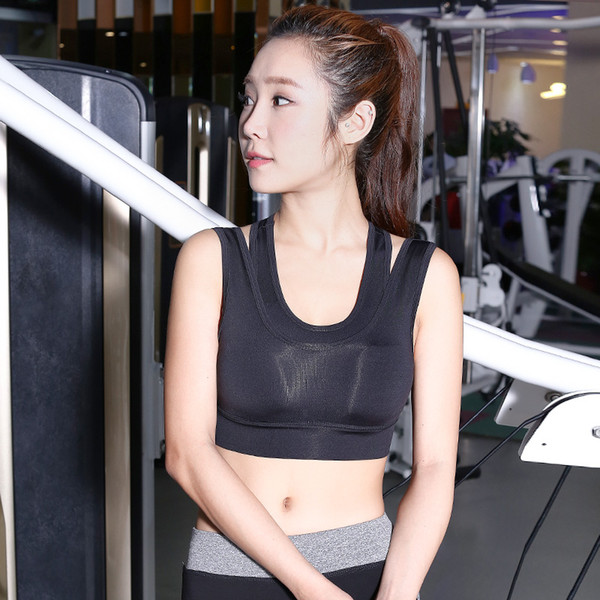 new beauty Women's clothing underwear back bra female vest with chest pad quick-drying breathable beauty back two sports bra