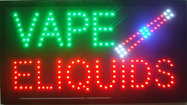Nouvel arrivant super lumineux led signe ouvert panneau néon ouvert utilisation intérieure Vape signe e-liquide en gros