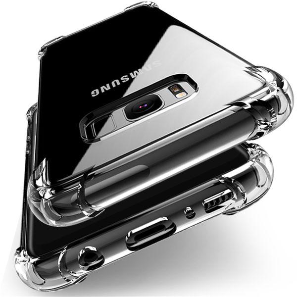 New For Samsung Galaxy S9 S8 Plus S7 Edge Note8 note9 A7 A8 J5 J7 Air Cushion Case Crystal TPU Bumper Gel Cover iphone xs x xr max 8 6 7