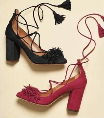 Yeni gelmesi kadın süet deri kapalı toe püskül lace up tıknaz topuk ayakkabı büyük boy özelleştirmek yapmak