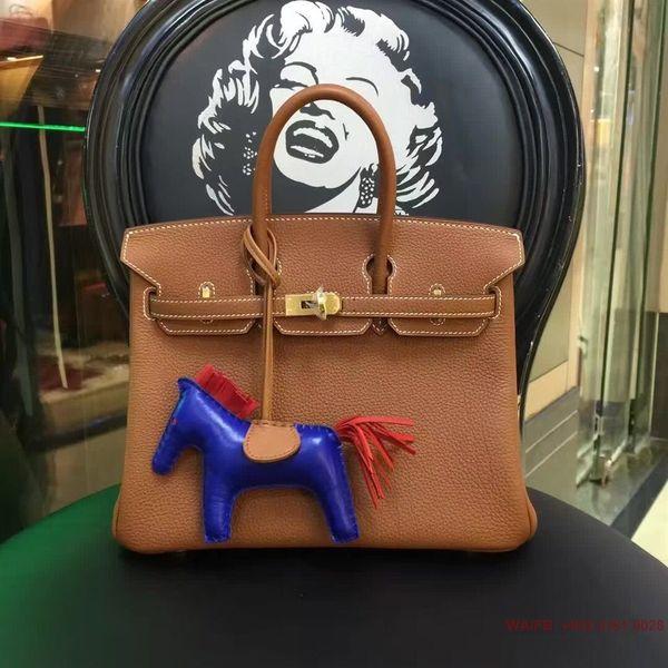 Free shipping fashion women's handbag bag Brown calfskin leather shoulder bag totes come with dustbag