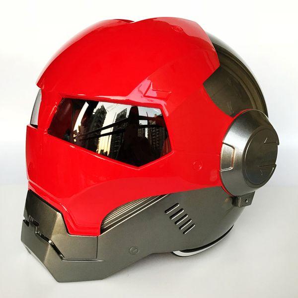 MASEI ABS IRONMAN Bright Red Grey Iron Man helmet 610 motorcycle half open face helmet casque motocross M L XL