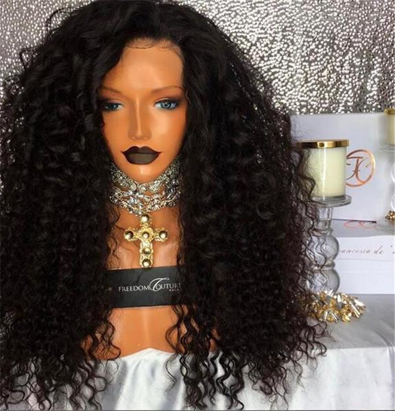 Glueless 5*4.5'' Silk Top Full Lace Wigs Kinky Curly Brazilian Virgin Hair Full Lace Front Human Hair Wigs Afro Kinky Lace Wigs