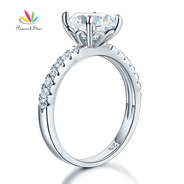 Peacock Star 925 Sterling Silver Bridal Anniversary Engagement Ring 2 Carat Jewelry CFR8212 S18101607