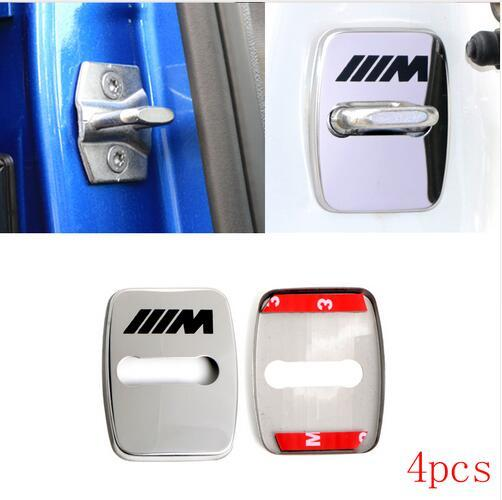 4pcs Car-Styling Door lock Cover Car Emblem Fit For BMW m 1 2 3 5 6 7-Series X1 X3 X4 X5 Accessories Stainless Steel Car Styling