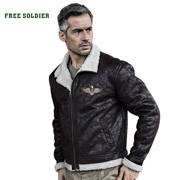 FREE SOLDIER outdoor sports tactical military uniform jacket men bomber pilot jacket for camping Y1893006