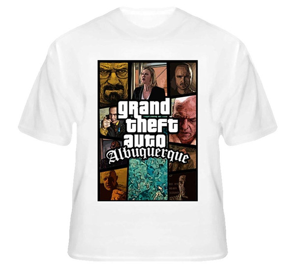 Grand Theft Auto Albuquerque Yeni Meksika GTA aking Bad T Gömlek Mens 2018 moda Marka% 100% pamuk Hip Hop Tee Gömlek
