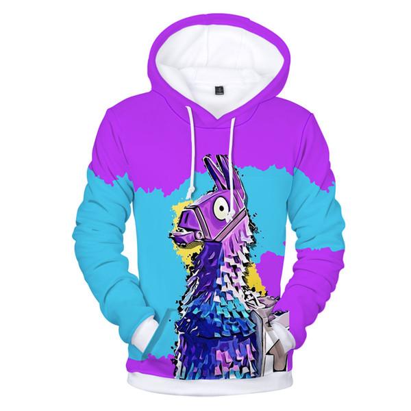 2018 new Battle Royale Hoodies 3D Popular Game Hoodies Men Rainbow Smash Pony Horse Printed Hooded Sweatshirt Kids Casual Streetwear