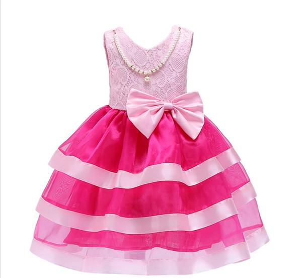 791d980511651 Cuhk enfants dentelle robe en mousseline de soie robe fille rose rose robes  sans manches Back