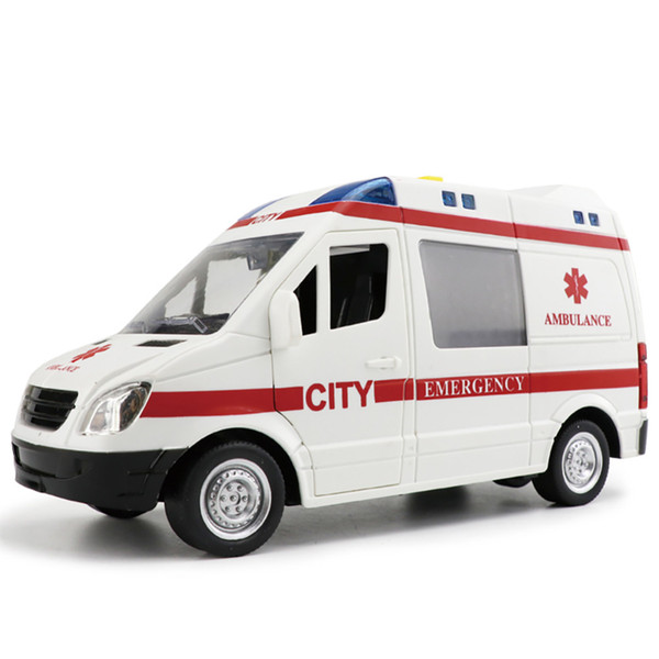 Scientific and Educational Ambulance Toy Whose Doors Have to be Opened Manually (with Sound and Light) Toy for Children