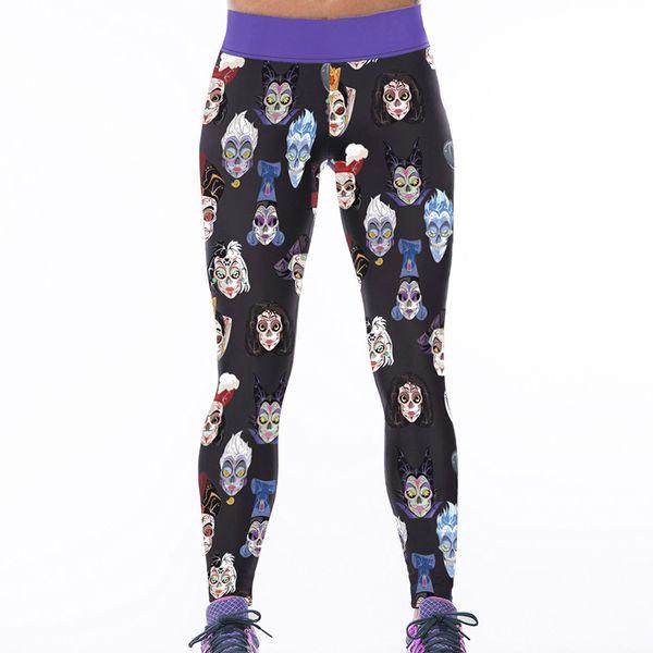 Frauen Sport Leggings Gesicht 3D Graphic Full Print Fitness Hosen Mädchen Läufer Yoga Wear Hosen Lady Voller Länge Bleistift Fit (RLAslgs0023)