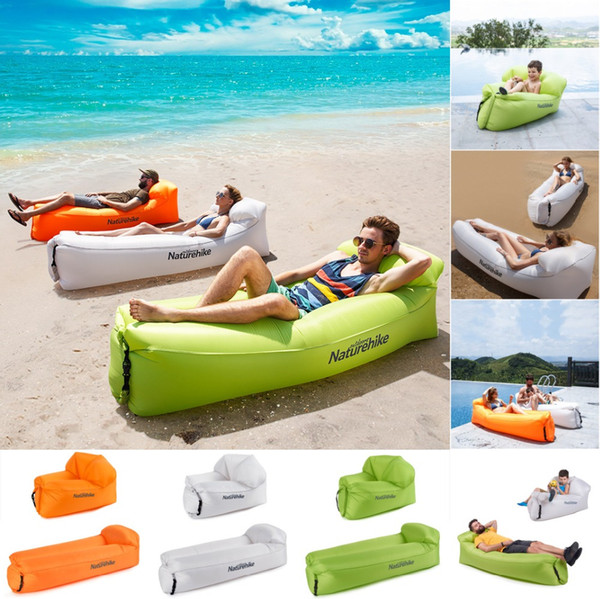 Naturehike Portable Outdoor Inflatable Air Lounger Couch, Waterproof Anti-Air Leaking Design-Ideal for Pool, Backyard, Beach