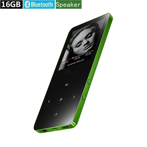 Reproductor de música MP3 Bluetooth 16GB con altavoz Reproductor de sonido HIFI sin pérdida con radio FM, grabadora, tarjeta SD de soporte de hasta 128 GB