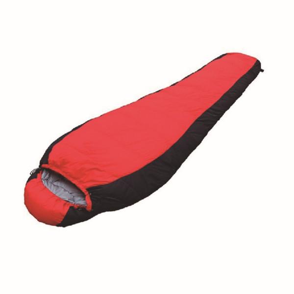 Duck Down Adult Mummy Type Sleeping Bag Winter Hooded Hiking Sleeping Bag Outdoor Camping Ultralight Sleep AA52018