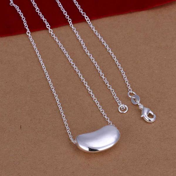 TOP1 joyería fina para mujer, precioso colgante dolichos lablab, collar de plata 925 para regalo de aniversario