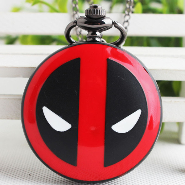 Mode Deadpool Montre De Poche Mâle Rétro Collier Version Coréenne Version Antique Homme Femmes Montre De Poche Drop Shipping