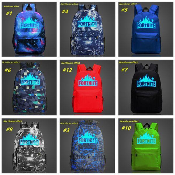 Fortnite Backpacks Fortnite Battle Royale School Bags 20L Noctilucous  Students Shoulders Bags Game Fortnite Luminous Backpacksx Messenger  Backpack