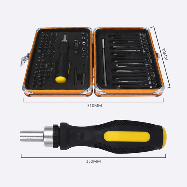 Freeshipping NEW 92 In1 Tool Box Multi-function screwdriver set ratchet wrench socket Household Electrical maintenance tools